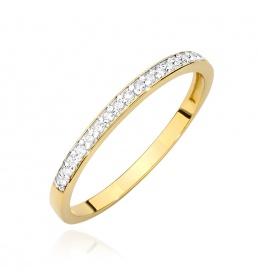 Złoty pierścionek z brylantami 0,09ct  (BC-05)