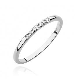 Złoty pierścionek z brylantami 0,04ct  (BC-07)