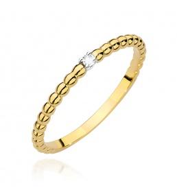 Złoty pierścionek z brylantem 0,02ct  (BC-01)
