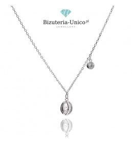Naszyjnik srebrny kryształ