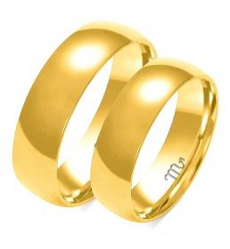 Złote obrączki wzór A-104