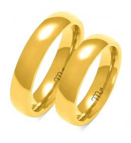 Złote obrączki wzór A-106